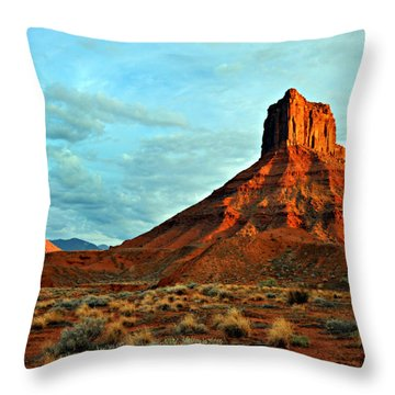 Sunset On The Mesa Throw Pillow by Marty Koch