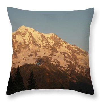 Sunset On The Mountain Throw Pillow
