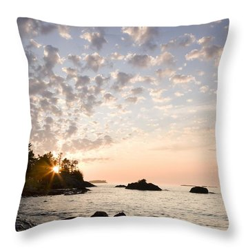 Sunset On The South Shores Of Lake Throw Pillow by Susan Dykstra