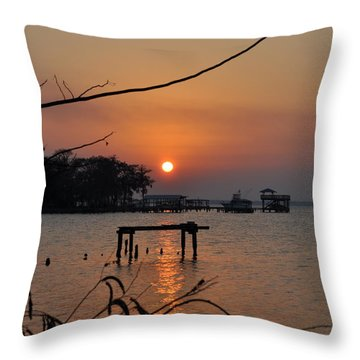 Sunset On The St. John's River Throw Pillow by Tiffney Heaning