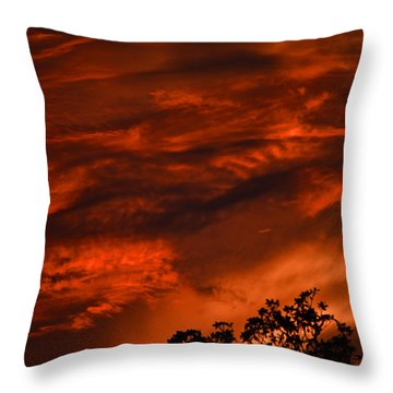 Throw Pillow featuring the photograph Sunset Over Altoona by DigiArt Diaries by Vicky B Fuller