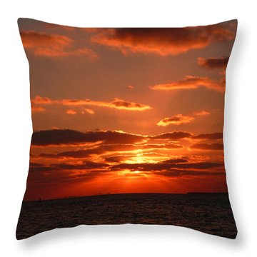 Throw Pillow featuring the photograph Sunset Over Key West by Jo Sheehan
