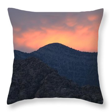 Throw Pillow featuring the photograph Sunset Over Red Rock by Art Whitton