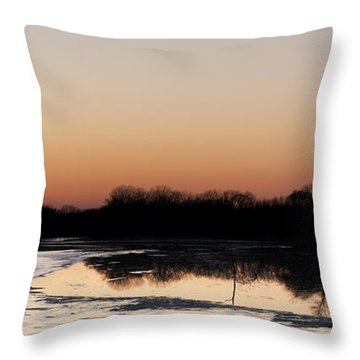 Throw Pillow featuring the photograph Sunset Over The Republican River by Art Whitton
