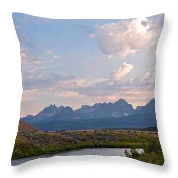 Sunset Over The Salmon River Throw Pillow