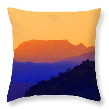 Sunset Over The Sierra Gigantes Throw Pillow