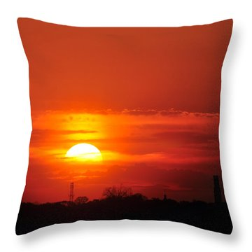 Sunset Over Washington Dc Throw Pillow