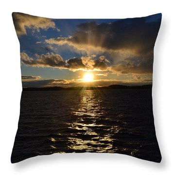 Sunset Over Winnepesaukee Throw Pillow