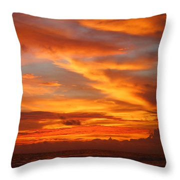 Sunset Playa Hermosa Costa Rica Throw Pillow by Michelle Wiarda