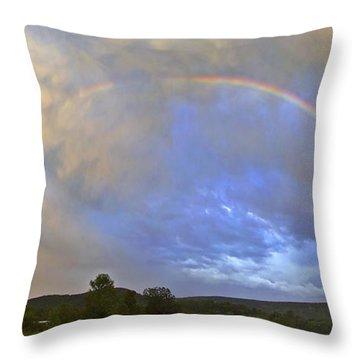Sunset Rainbow Throw Pillow