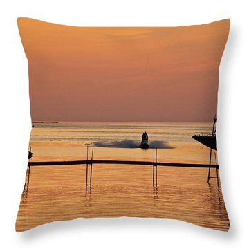 Sunset Ride Throw Pillow by Eve Spring