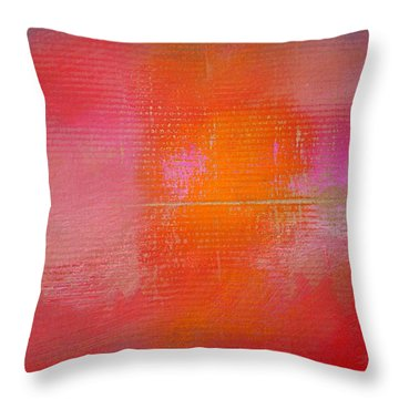 Sunset River Throw Pillow by Charles Stuart