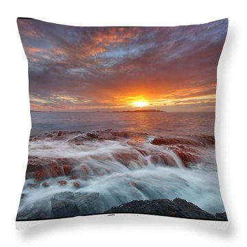 Sunset Tides - Cemlyn Throw Pillow