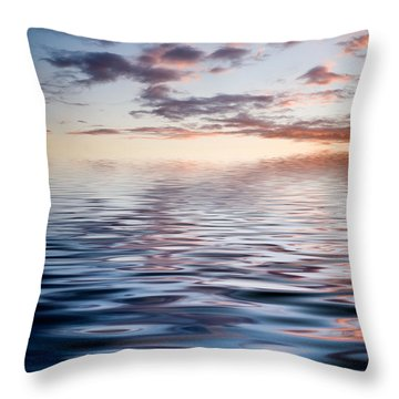 Sunset With Reflection Throw Pillow by Kati Molin