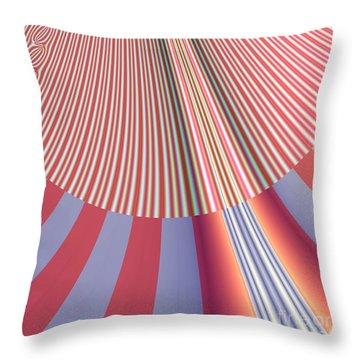 Sunshine And Rain Fractal 132 Throw Pillow by Rose Santuci-Sofranko