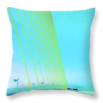 Throw Pillow featuring the photograph Sunshine  Bridge by Lizi Beard-Ward