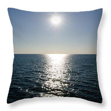 Sunshine Over The Mediterranean Sea Throw Pillow