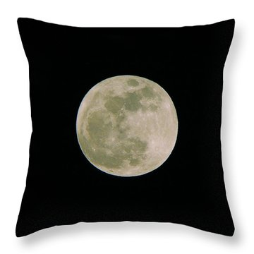 Throw Pillow featuring the photograph Super Moon May 5  2012 by Brian Wright