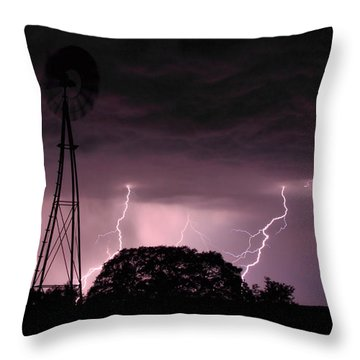 Super Storm Throw Pillow