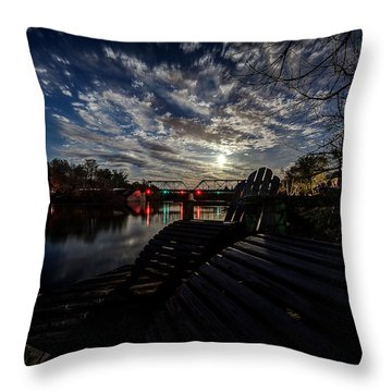 Supermoon Throw Pillow by Everet Regal