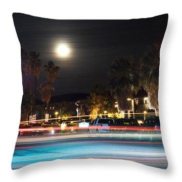 Throw Pillow featuring the photograph Supermoon I by Carolina Liechtenstein