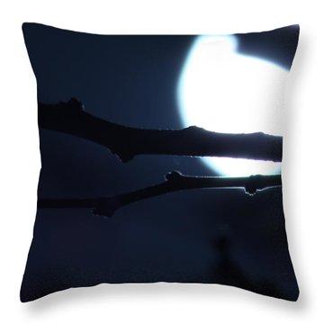 Throw Pillow featuring the photograph Supermoon IIi by Carolina Liechtenstein