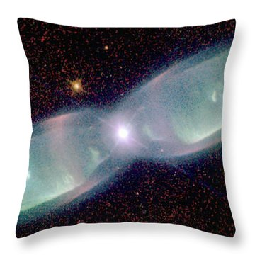 Supersonic Exhaust From Nebula Throw Pillow by STScI/NASA/Science Source