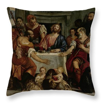 Supper At Emmaus Throw Pillow by Veronese