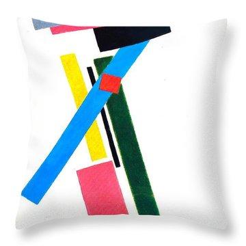 Suprematism Throw Pillow by Kazimir Severinovich Malevich