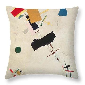 Suprematist Composition No 56 Throw Pillow by Kazimir Severinovich Malevich