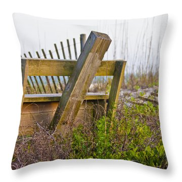 Surf City Chair Throw Pillow by Betsy Knapp