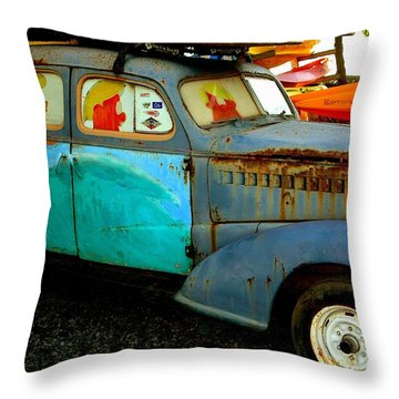 Surf Mobile Throw Pillow by Mark Gilman