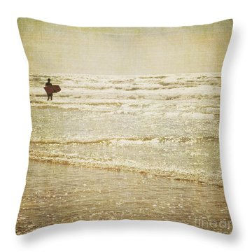 Surf The Sea And Sparkle Throw Pillow