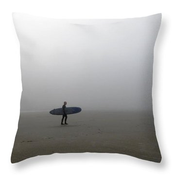 Surfing Into The Abyss Throw Pillow
