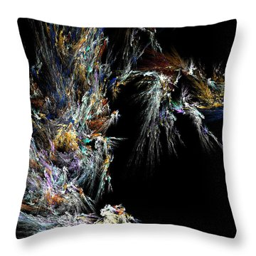 Throw Pillow featuring the digital art Surfing Waves by Ester  Rogers