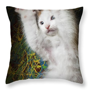 Surprise Throw Pillow by Garry Gay