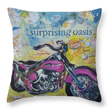 Surprising Oasis Throw Pillow