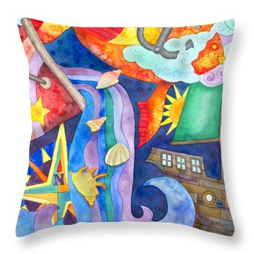 Surreal Seascape Throw Pillow