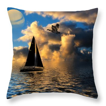 Throw Pillow featuring the photograph Surreal Seaside by Cindy Haggerty