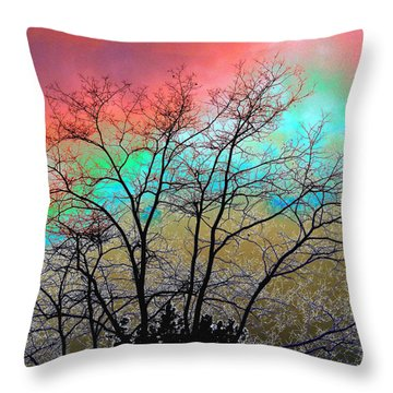 Surreal Winter Sky Throw Pillow by Will Borden