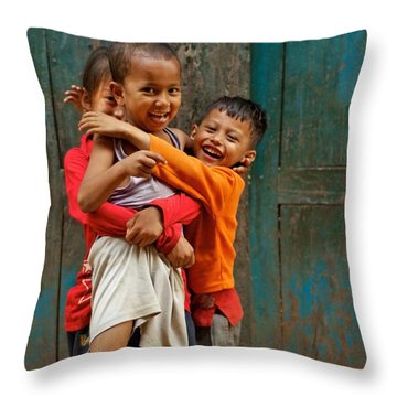 Survival Of The Fittest Throw Pillow by Valerie Rosen