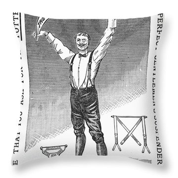 Suspenders, 1888 Throw Pillow by Granger