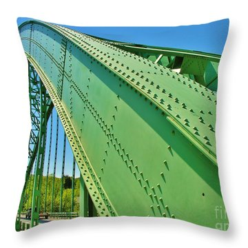 Throw Pillow featuring the photograph Suspension Bridge by Sherman Perry