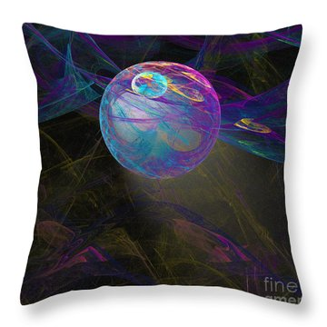 Throw Pillow featuring the digital art Suspension by Victoria Harrington