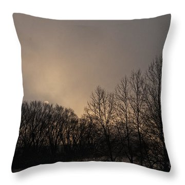 Susquehanna River Sunrise Throw Pillow