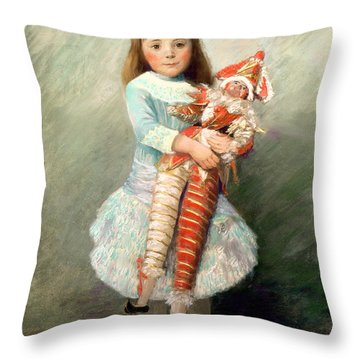 Suzanne Throw Pillow by Pierre Auguste Renoir