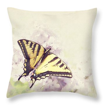 Swallowtail On Lilac Throw Pillow