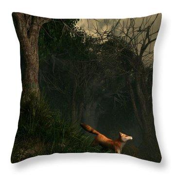 Swamp Fox Throw Pillow by Daniel Eskridge
