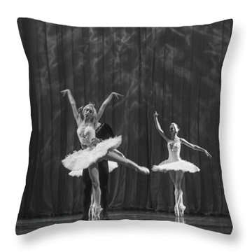 Swan Lake  White Adagio  Russia 4 Throw Pillow by Clare Bambers