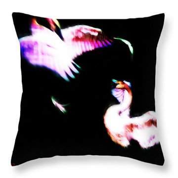 Swans Throw Pillow by Adam Vance